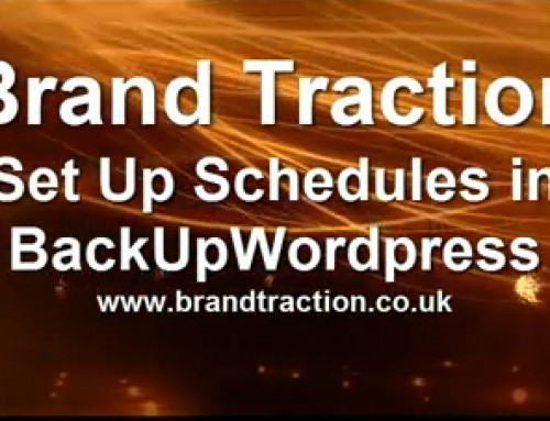 BackupWordPress: Setting up schedules
