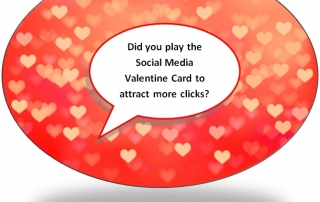 Social Media Valentines Day Card - to get extra click throughs