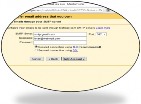 Setting up a gmail alias pop3 email