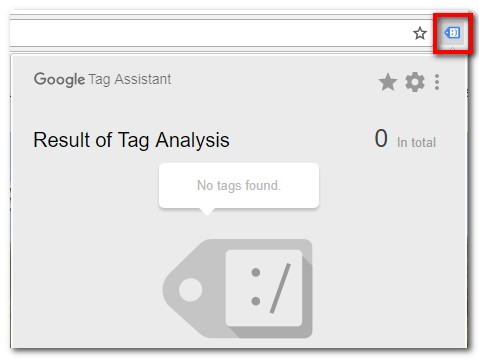 Tag assistant shows that the analytics tag is not loaded